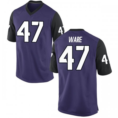 Youth Nike Carter Ware TCU Horned Frogs Replica Purple Football College Jersey