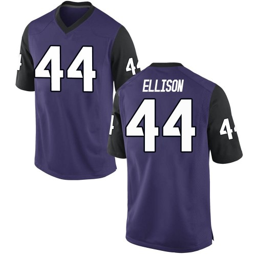 Youth Nike Colt Ellison TCU Horned Frogs Game Purple Football College Jersey