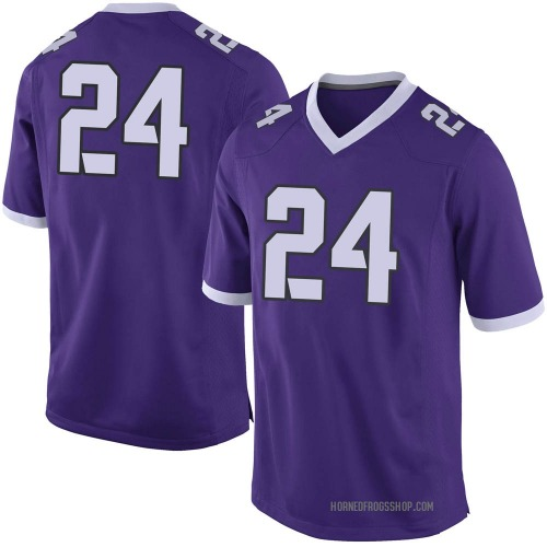 Youth Nike Darwin Barlow TCU Horned Frogs Limited Purple Football College Jersey