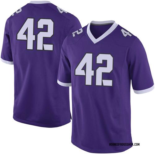 Youth Nike Dearan Roche TCU Horned Frogs Limited Purple Football College Jersey