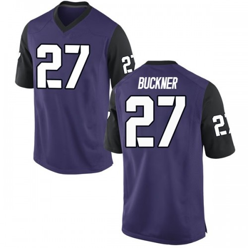 Youth Nike Devin Buckner TCU Horned Frogs Replica Purple Football College Jersey