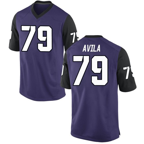 Youth Nike Esteban Avila TCU Horned Frogs Game Purple Football College Jersey