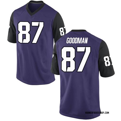 Youth Nike Jake Goodman TCU Horned Frogs Replica Purple Football College Jersey