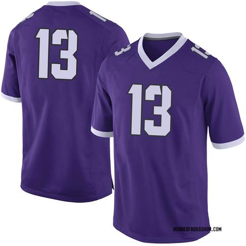 Youth Nike Jake Neufeld TCU Horned Frogs Limited Purple Football College Jersey