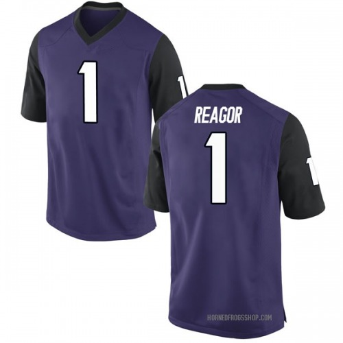 Youth Jalen Reagor TCU Horned Frogs Game Purple Football College Jersey