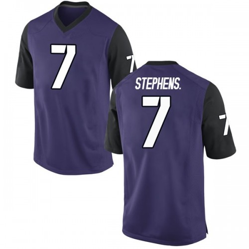 Youth Nike John Stephens Jr. TCU Horned Frogs Game Purple Football College Jersey