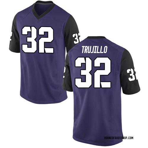 Youth Nike Jonathan Trujillo TCU Horned Frogs Game Purple Football College Jersey