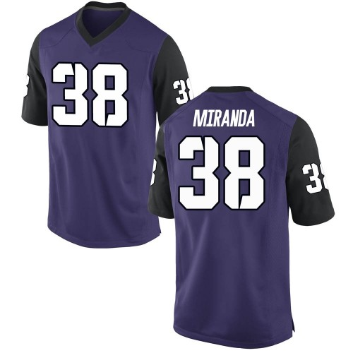 Youth Nike Jose Miranda TCU Horned Frogs Replica Purple Football College Jersey