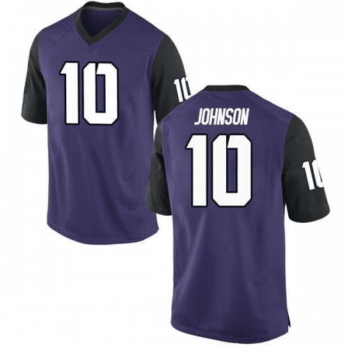 Youth Nike Kerry Johnson TCU Horned Frogs Replica Purple Football College Jersey