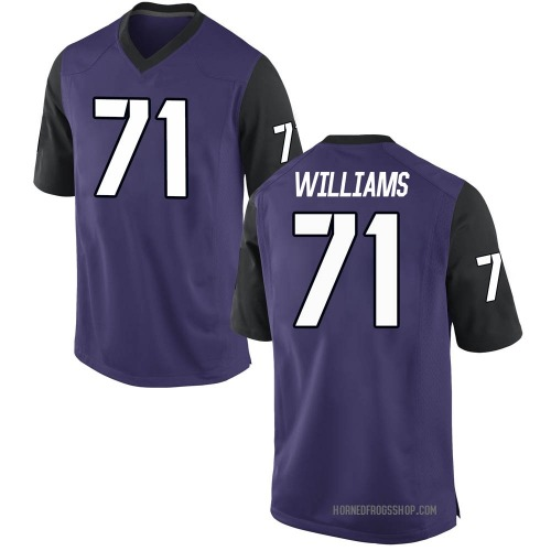 Youth Nike Marcus Williams TCU Horned Frogs Game Purple Football College Jersey