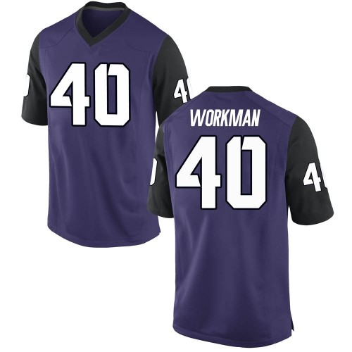 Youth Nike Parker Workman TCU Horned Frogs Game Purple Football College Jersey