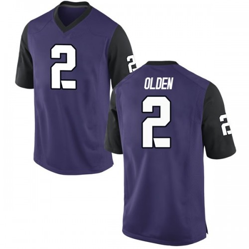 Youth Nike Shawn Olden TCU Horned Frogs Replica Purple Football College Jersey