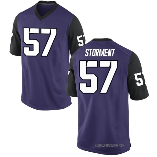 Youth Nike T.J. Storment TCU Horned Frogs Game Purple Football College Jersey