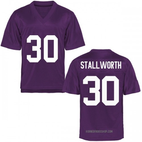 Youth Omega Stallworth TCU Horned Frogs Replica Purple Football College Jersey