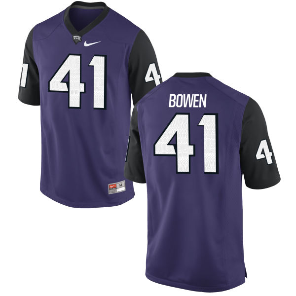 Men's Nike Brandon Bowen TCU Horned Frogs Replica Purple Football Jersey