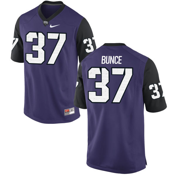 Men's Nike Cole Bunce TCU Horned Frogs Replica Purple Football Jersey