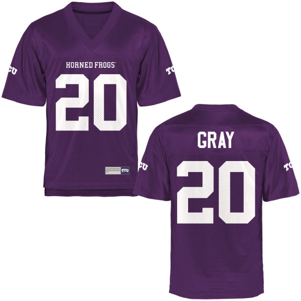 Men's Deante Gray TCU Horned Frogs Authentic Purple Football Jersey