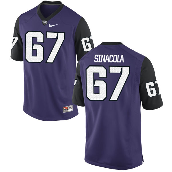 Youth Nike Geatano Sinacola TCU Horned Frogs Game Purple Football Jersey