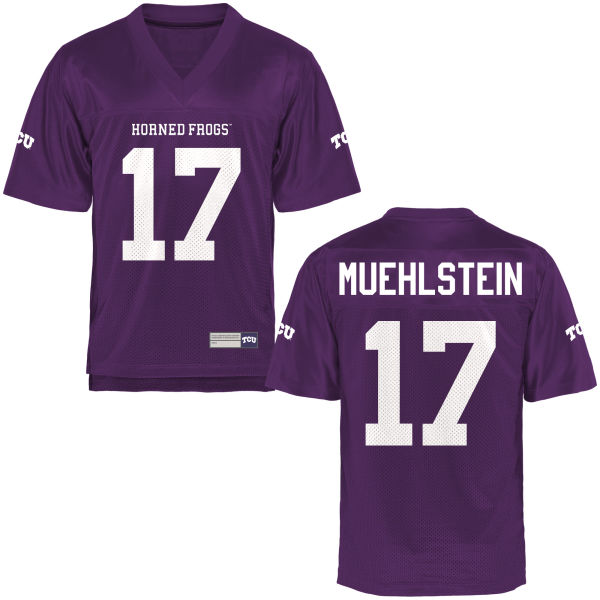 Men's Grayson Muehlstein TCU Horned Frogs Replica Purple Football Jersey