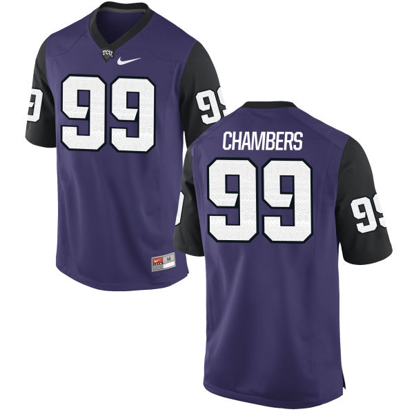Men's Nike Isaiah Chambers TCU Horned Frogs Authentic Purple Football Jersey