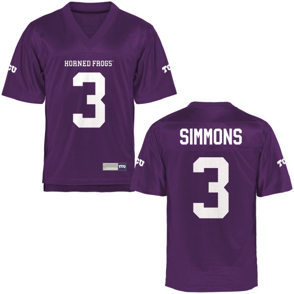 Men's Markell Simmons TCU Horned Frogs Replica Purple Football Jersey