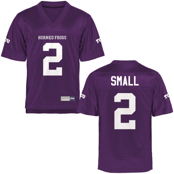 Men's Niko Small TCU Horned Frogs Game Purple Football Jersey