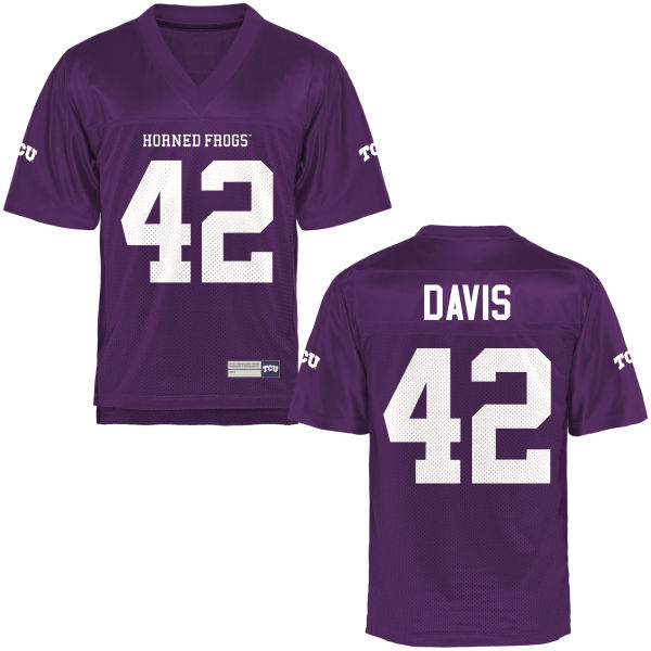 Men's Pakamiaiaea Davis TCU Horned Frogs Replica Purple Football Jersey