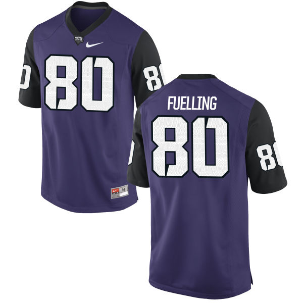 Men's Nike Robbie Fuelling TCU Horned Frogs Authentic Purple Football Jersey