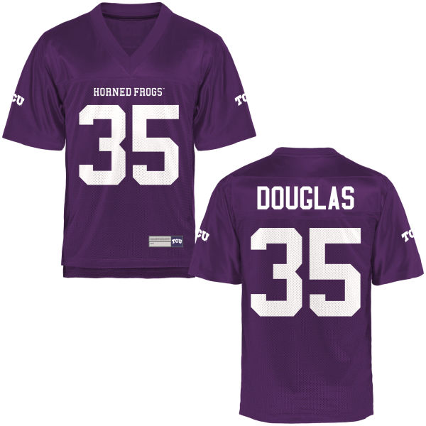 Youth Sammy Douglas TCU Horned Frogs Game Purple Football Jersey