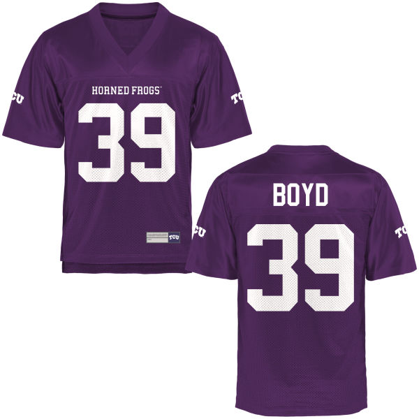 Men's Stacy Boyd TCU Horned Frogs Replica Purple Football Jersey