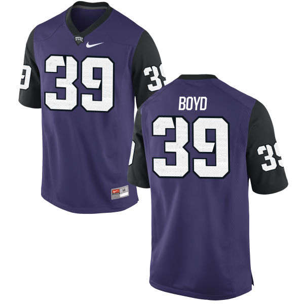 Men's Nike Stacy Boyd TCU Horned Frogs Replica Purple Football Jersey